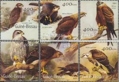 Stamps Guinea-bissau Guinea-bissau 1452-1457 Unmounted Mint Never Hinged 2001 Birds
