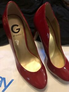 new appearance online here new high quality Details about GUESS Womens Patent Leather Platform Heels Stiletto Pumps 9 M  Pretty NWOB