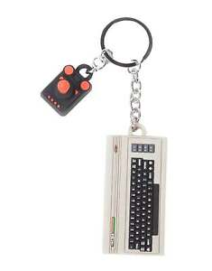 Commodore-Schluesselring-Keychain-C64-Console-And-Joystick-3D-Rubber-Nue-One-Size