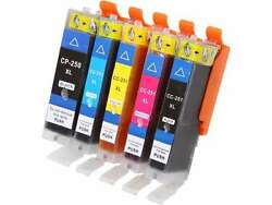 Ink4work 5-Pack Ink Cartridge for Canon InkJet Printers