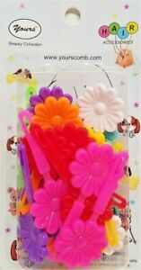 Yours-Barrettes-Hair-MULTI-COLOR-Big-Flowers-Girls-Toddler-Snap-Pin-Clips-20-Pcs