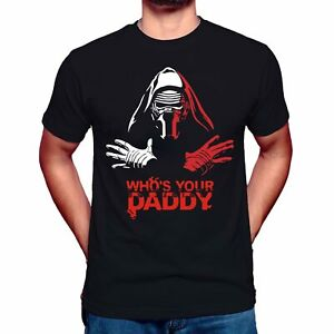 Star-Wars-Rhapsody-Inspired-Queen-Funny-l-Who-039-s-Is-Your-Daddy-T-Shirt-Tee-Top