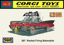 Corgi Toys 267 Batman Batmobile 1966 Large Size Poster Advert Leaflet Shop Sign