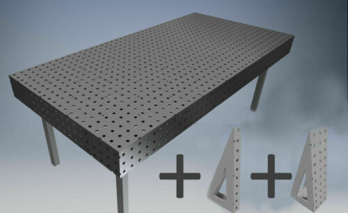 square Welding Bench DXF Files //Jig Table// Fixture Table 2000mm X 1000mm Plans