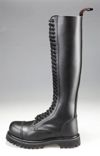HLS Ranger Boots Stiefel 30 Loch Stahlkappe Leder schwarz