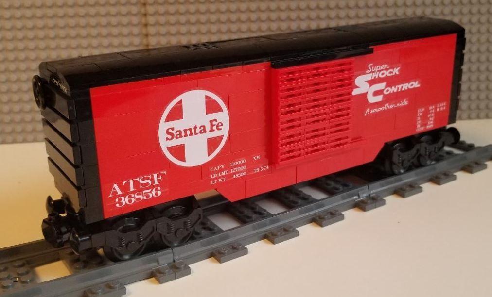 Lego Tren Vagón Santa Fe -- por favor lea la descripción del artículo --
