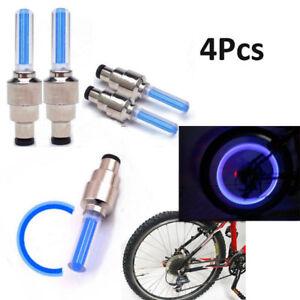 Light Lamp 4pcs Car Motorcycle Wheel Tire Tyre Valve Spoke Flashing LED Cap