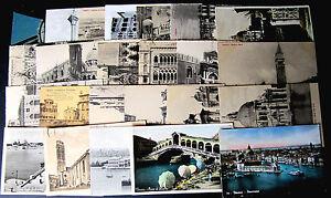 Venezia-Lotto-da-25-cartoline-tutte-piccolo-formato-perfette