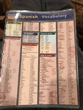Quick Access Reference Charts: Spanish Vocabulary by Research and Education Association Editors (2009, Merchandise, Other)