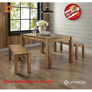 Astonishing Details About New Rustic Solid Wood Dining Table Bench Block Leg Farm House Style Vintage Evergreenethics Interior Chair Design Evergreenethicsorg