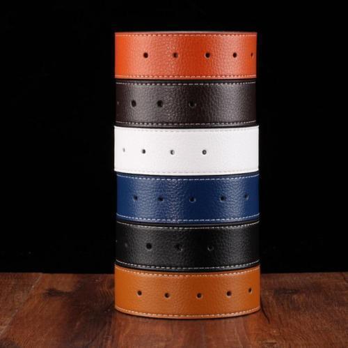 Homme Designer Cuir ceintures pour hommes H Ceinture Sangle seulement aucune Boucle Réversible Ceinture
