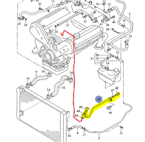 AUDI A6 A8 1998-04 4.2L V8 ENGINE BLOCK COOLANT AIR BLEED TUBE 077121481B |  eBay | Audi A8 4 2l V8 Engine Diagram |  | eBay