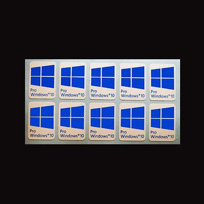 10 X Windows 10 Pro Sticker Badge Aufkleber Hd Quality Cyan Ebay