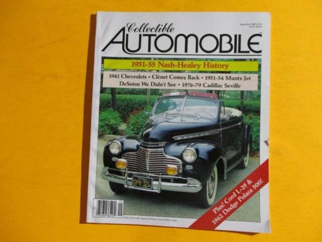 8984c6ed775 COLLECTIBLE AUTOMOBILE MAGAZINE SEPT/1985...1951 -55 NASH-HEALEY HISTORY