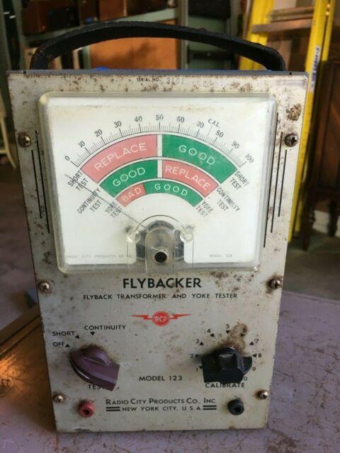 Vintage RCP flybacker -flyback transformer & yoke tester model 123