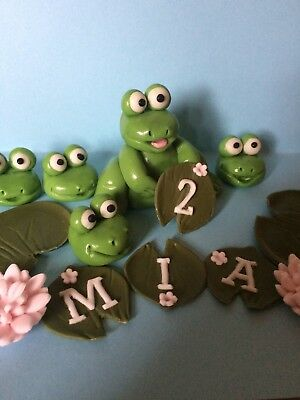 Edible Frog Cake Toppers With Custom Name And Age