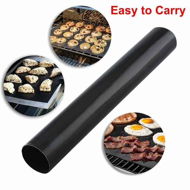 2pcs Reusable Nonstick Surface BBQ Grill Mat Baking Easy Clean Grilling Outdoor