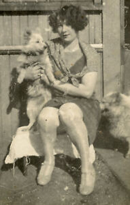 VINTAGE-DOG-PUPPY-PRETTY-WOMAN-CUTE-ARTISTIC-PHOTO-VERNACULAR-PHOTOGRAPHY-FUN