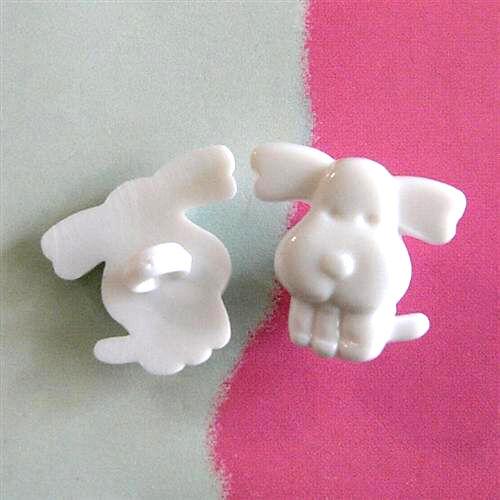 20 Puppy Chien Pet Scrapbooking Craft Sew Sur Les Boutons Dress It Up Blanc K349