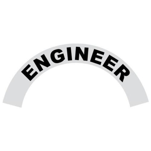 Engineer Black Helmet Crescent Reflective Decal Sticker