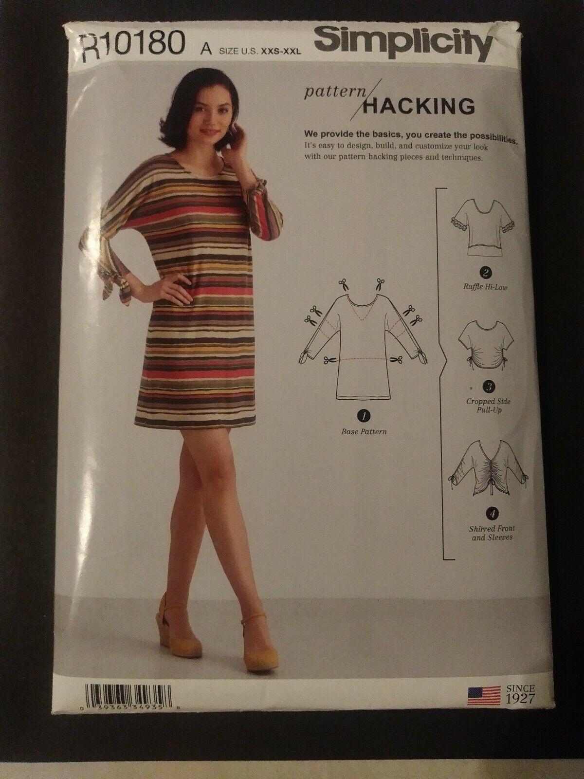 XXS-XS-S-M - L-XL-XXL Simplicity sewing pattern 8751 Robes un