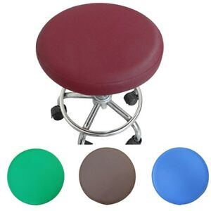 stool cover faux leather round chair cover sleeve pure color dentist
