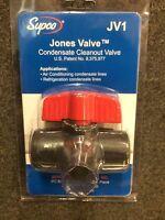 Supco Jv1 Jones Valve Condensate Drain Blow Out Valve
