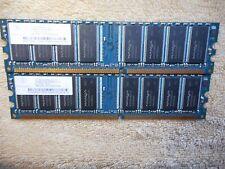 PC3200U-30331 2X 256MB DDR-400MHZ-CL3 (512MB totale) di memoria RAM NANYA