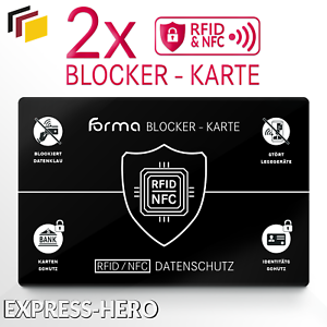 2x-RFID-Blocker-Karte-NFC-Schutzkarte-EC-Karten-Schutz-kreditkarten-Card-Signal