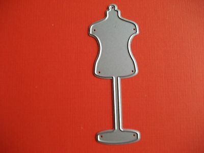 Metal Die Cutter Small Dressmakers Mannequin  (Sewing)