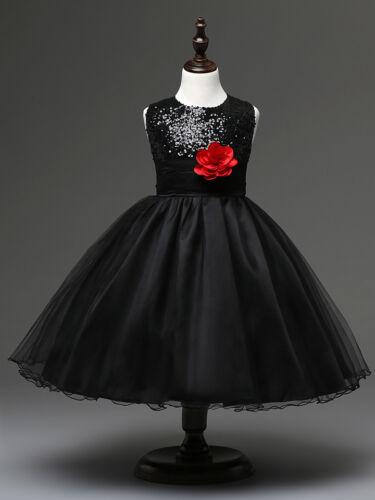 NEW Wedding Flower Girls Sequined Dress Kids Tutu Skirt Formal Dress up
