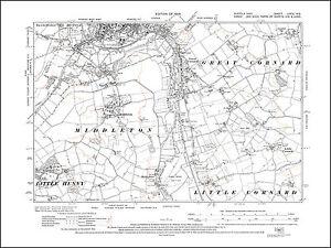 Sudbury S Little Great Cornard old map Suffolk 1928 79NE repro