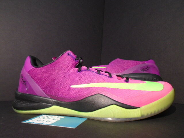 NIKE ZOOM KOBE VIII 8 SYSTEM MC MAMBACURIAL RED PLUM VOLT PINK 615315-500 NEW 13