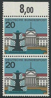 Bund Aus 1964 ** Postfrisch Minr.420 Ii F4 Plattenfehler! Kurhaus