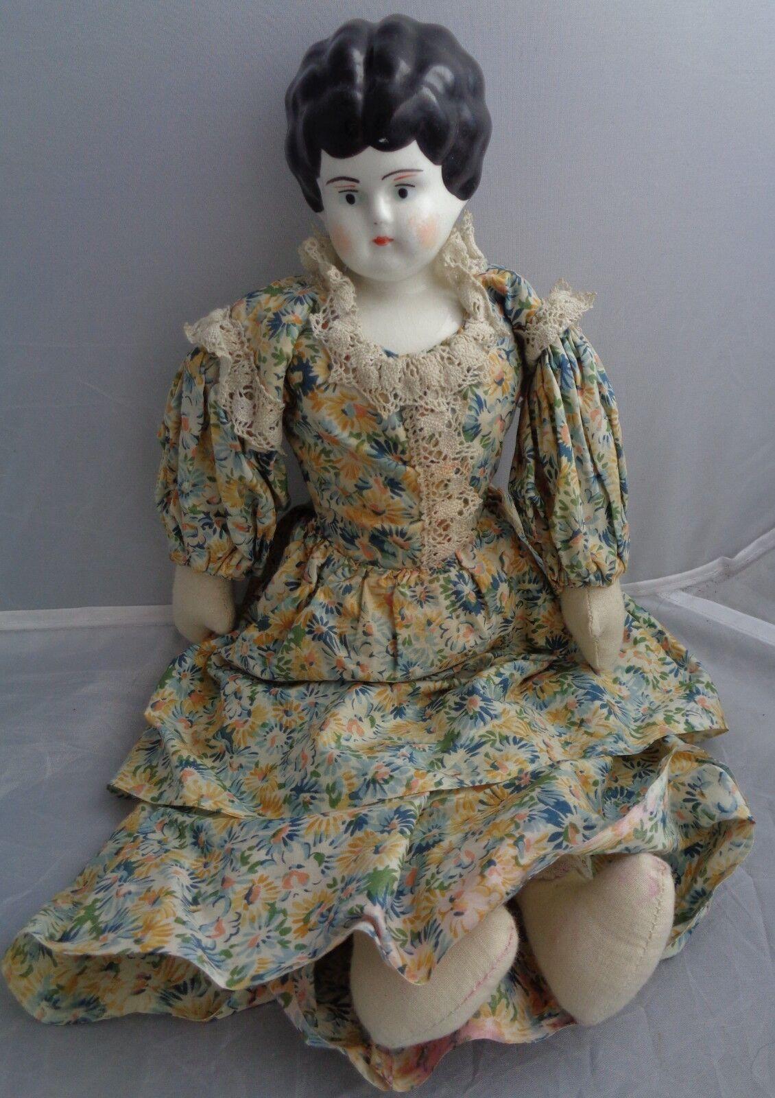 RARA BAMBOLA PARIA TESTA IN BISQUIT CORPO IN TESSUTO  bambola POUPEE INIZIO SECOLO  scelte con prezzo basso