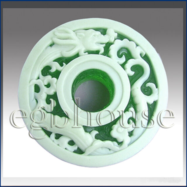 Asian Dragon Pendant Design - Detail of high relief sculpture-Soap silicone mold