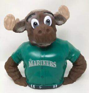 MLB-Seattle-Mariners-Moose-Piggy-Bank-Coin-Bank-Mariners-Mascot-Green-Jersey-NEW