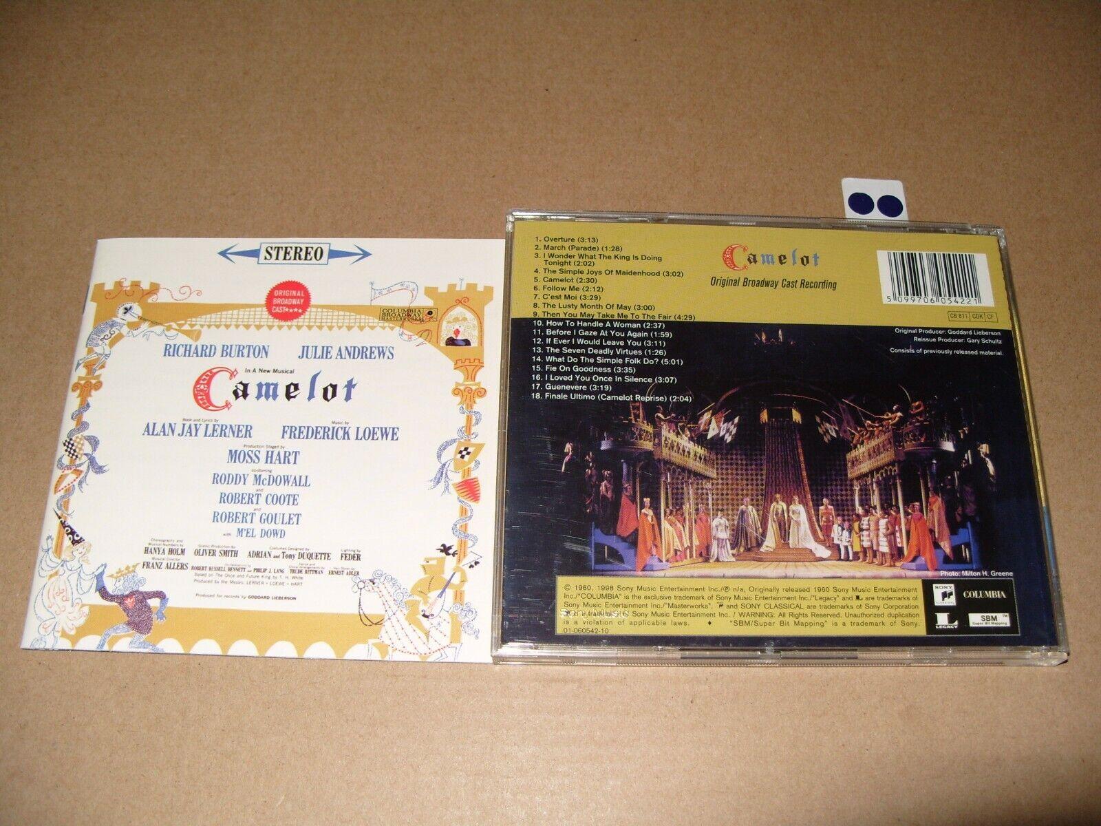 Soundtrack - Camelot [Original Broadway Cast Recording] [Remastered] (1998)