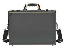 Mens Briefcase Traditional Attache Aluminium Metal Bag Laptop Carrier Office Bag