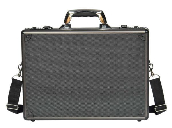 100% De Calidad Para Hombre Maletín Bolsa De Metal Aluminio Tradicional Attache Bolso De Laptop Portador De Oficina-ver
