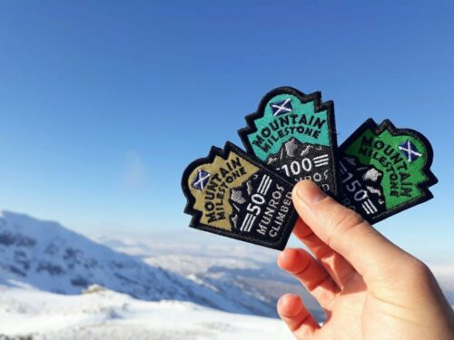 150 Munros Climbed Embroidered Patch Mountain Milestone