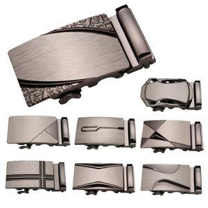 Men-039-s-Automatic-Slide-Buckle-Replacement-Metal-Business-Ratchet-Belt-Buckle