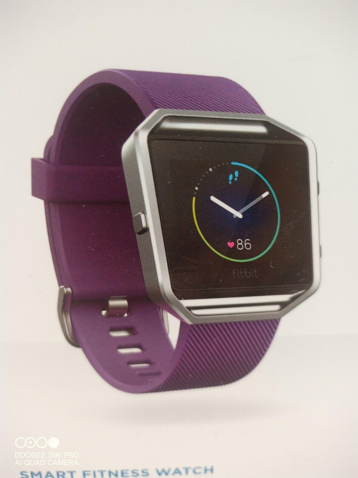 Fitbit Blaze Smart Fitness Watch Activity Tracker Purple Large Band Good Conditi