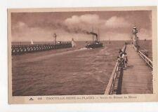 Trouville Reine Des Plages Sortie du Bateau du Havre Postcard France 345a ^