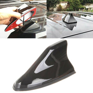 Black Universal Car Roof Radio AM//FM Signal Shark Fin Style Aerial Antenna Cover
