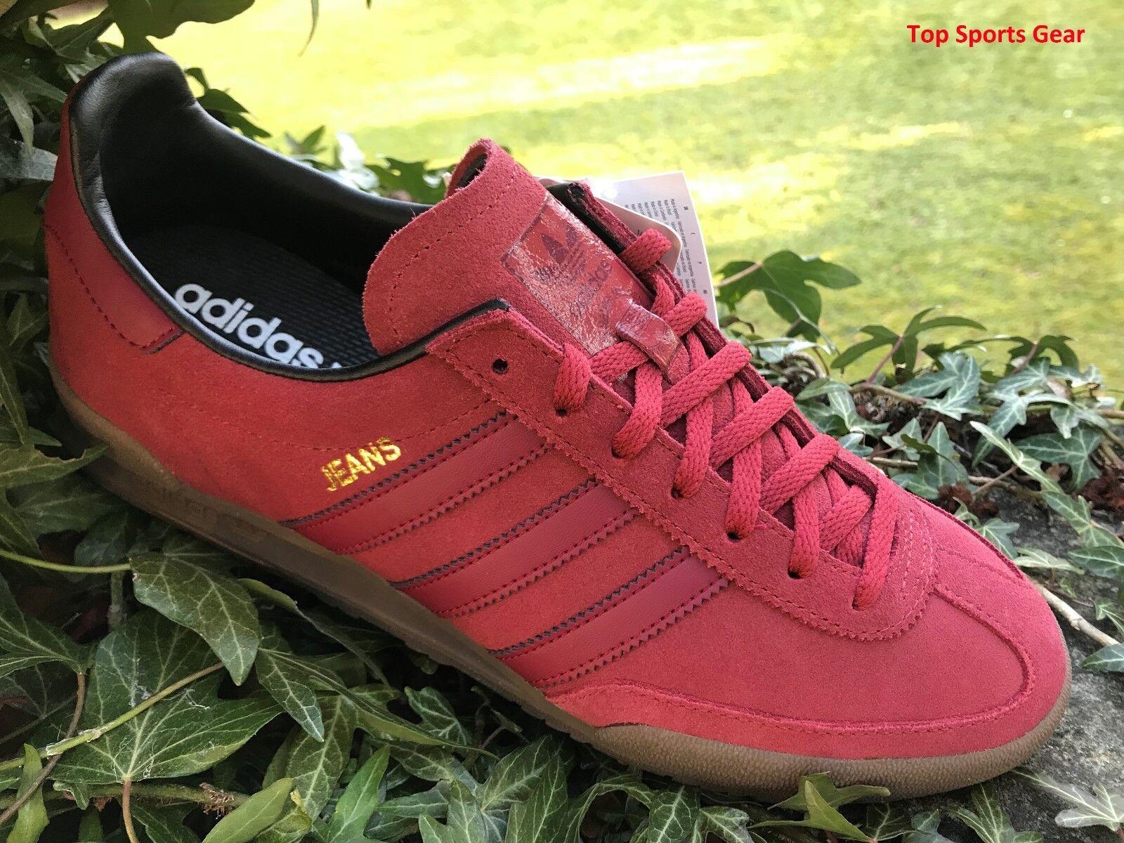 Adidas Originals Hombres Jeans Moda Entrenadores Rojo BNIBWT tamaños UK 10.5 EU45.3