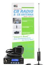 CB RADIO MOBILE STARTER PACK TCB550 + MAGNETIC CB ANTENNA KIT 4X4 TRUCK VAN CAR