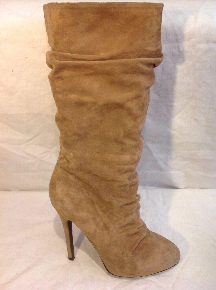 Aldo Brown Mid Calf Suede Boots Size 39