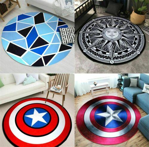 Captain America Shield Circle Velboa Floor Rug Carpet Room Doormat Non slip Mat