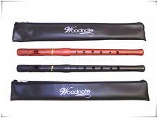 Woodnote Lot of 2-Wood Grain & Matte Black 8 holes Fife Flutes(Both Key of C)